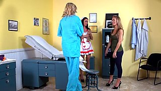 Busty Puma Swede Plays Doctor Patient Nurse!
