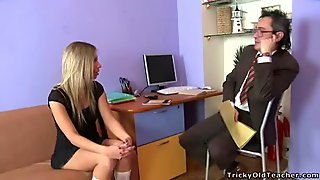 Old teacher is enchanting sweet babes love tunnel