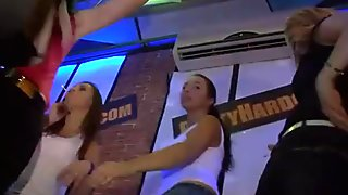 Yong girls fucked after dance