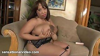 M. Deja - Interview - Big Black Natural Tits BBW Chocolate -full video-