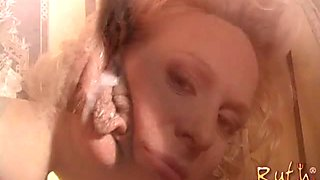 Leggy auburn MILF with natural tits enjoys interracial doggy pounding