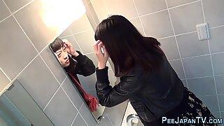 Weird asians piss in loo