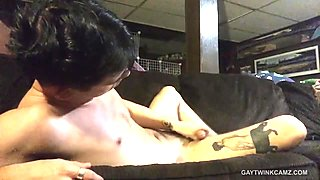 Amateur Twink Abe Andrews Jerks Off