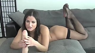 Rub your cock on my sexy fishnet stockings JOI
