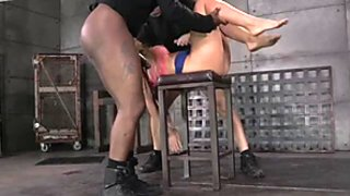 Sexy MILF with big tits Holly Heart gets caged and trained for epic deepthroat on BBC