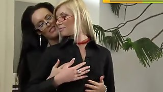 Office Lesbians Go At It