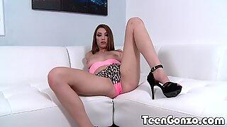 TEENGONZO Jasmine Delatori tries sucking a fat cock - Jasmine Love