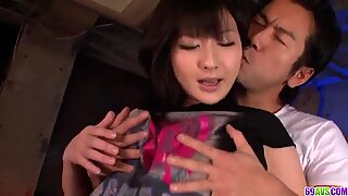 Megumi Haruka strips naked for a big Jap - More at 69avs.com