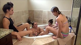 Hot Tub Lesbian Foot Worship