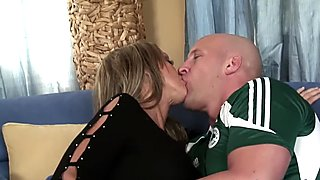 MILF pornstar fucks and eats cum