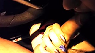 Public Blowjob Outside Of The Bar In The Car New Year's Eve, Hot Booty Call