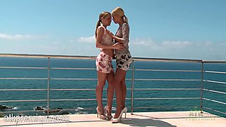 Sicilia and Tracy Gold suck and fuck with hot vigor