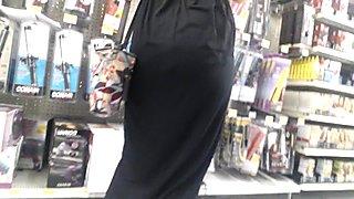 Amazing milf in black dress