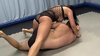 Kim-ly vs Patrick mixed wrestling