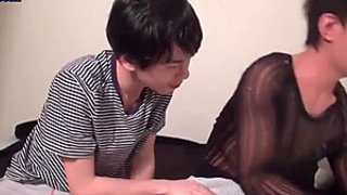 Asian boy sucking and taking anal