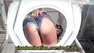 Dixie Comet Femdom POV Pee on Toilet Pervert