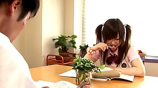 Teen nippon schoolgirl pounded doggystyle