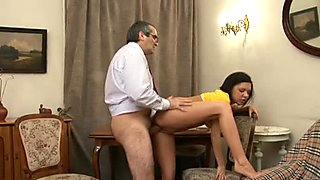 3some lesson with elderly teacher