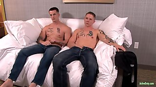 ActiveDuty Guy Tries Quentin Bareback