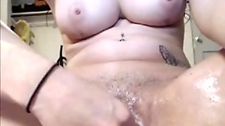 Amazing creamy pussy fingering on webcam