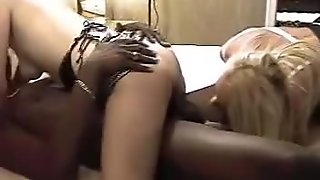 guy & his cousin watch their wives get naughty with lucky stranger's huge BBC!