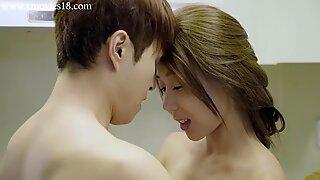 Romantic korean couple love sex