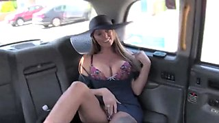 Stacey Saran rides the taxi and fucks