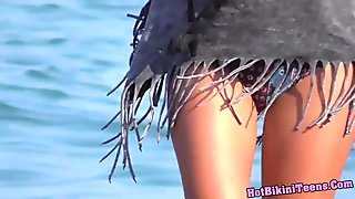 Sexy Ass Thong Bikini Beach Girls Voyeur Video HD