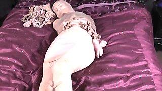 Pantyhose bound girl