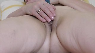 Wife masturbating with vibrator  heavy orgasm