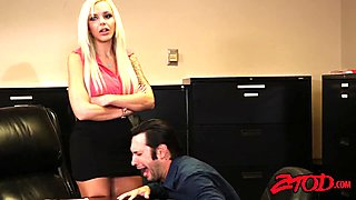 Office cougar Nina Elle love lots of dicks!