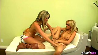 Girl-girl anal fun with gorgeous girls