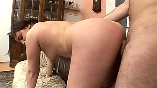 Horny Girl Sucking Dick and Fucked on the Couch