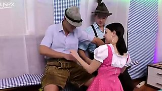 German groupsex lederhosen orgy