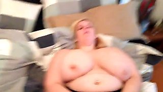 Giant tits BBW gets naked for her masturbation