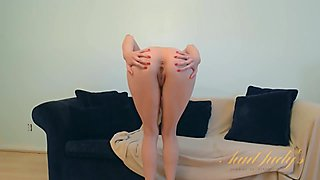 Incredibly fuckable sexy redhead babe takes off her clothes