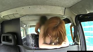 Young busty amateur fucks cab driver