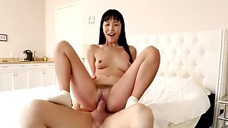 BAEB Asian babe Marica Hase pussy stuffed with super soaker facial