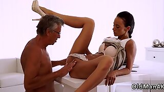 Nasty old granny and hung man first time Finally she s got her chief dick
