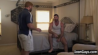 Gay daddy roommates fucking after a fight