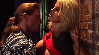 Huge tits hooker fucked in the ass in a back alley