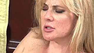 LesbianOlderYounger MILF Plays with Young Pus