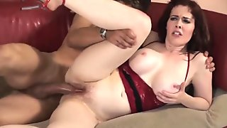 Hot redhead milf fucks really hard and facial (TOP MILF)