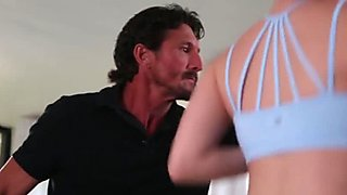Alison Rey fucks her personal trainer