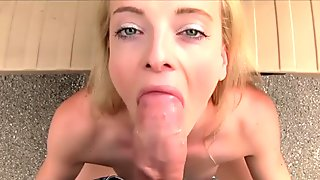 Pretty blonde amateur bangs fake taxi driver