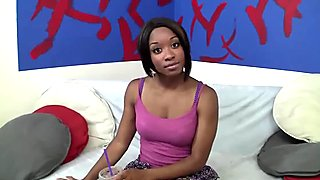 Interracial session featuring ebony stunner Imani