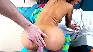 Hot tattooed whore anal fucked outdoors