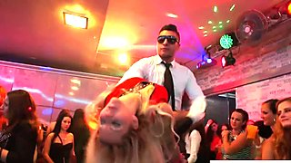 Glam euros fuck and suck strippers at orgy