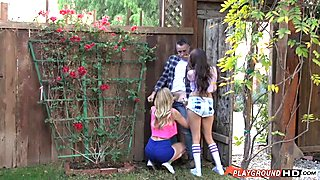 Fucking The Neighbor's Teen Daughter And Her Friend