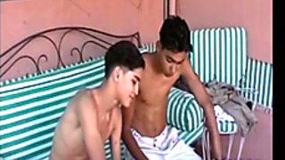 two hot boys playing
